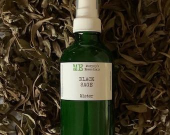 BLACK SAGE Essential Oil Body Spray Mister
