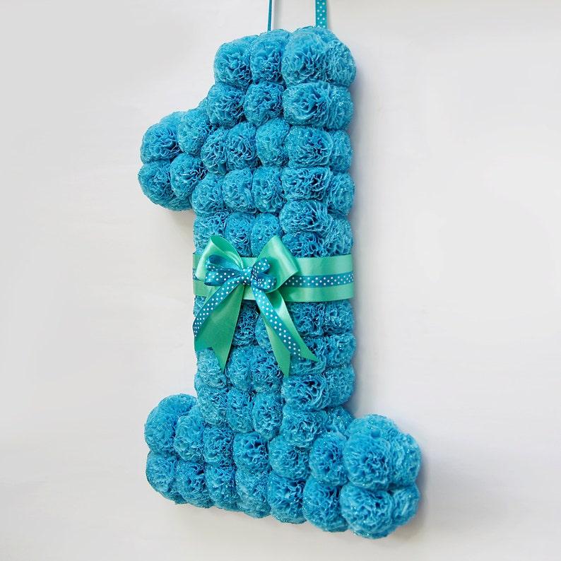 First Birthday Wreath Number Blue 1st Boy