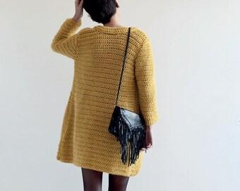 Crochet Jacket PDF Pattern for Women in English