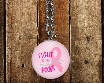 Breast Cancer Awareness Keychain, Breast Cancer Survivor, Pink Gift for her, Cancer Survivor Keychain, Fight Like A Girl, Custom Keyring,