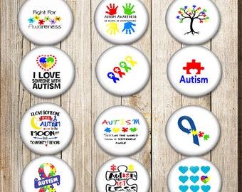 Autism Awareness Buttons, Autism Flair, Autism Swag, Awareness buttons, Autism Pins, Autism Badge, 1.5 inch buttons