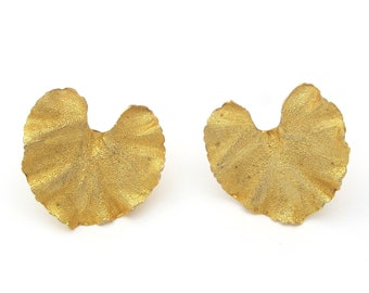 Lily Pad Statement Earrings