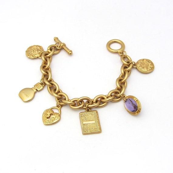 Gloria Vanderbilt Charm Bracelet   Heart Charm   B