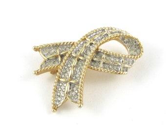 Polcini Bow Brooch   Ledo Jewelry   Ribbon Brooch   Bow Jewelry