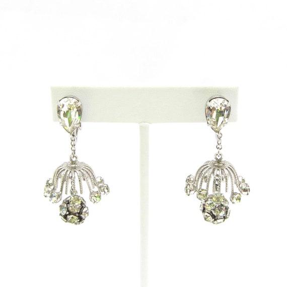 Napier Chandelier Rhinestone Earrings