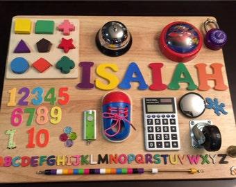 Toddler Busy Board,Busy Board,Activity Board,Alzheimer,Alzheimer Activities,Dementia