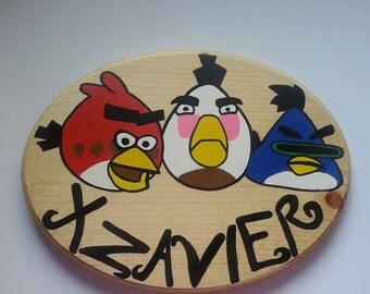 Angry Birds Wall Decor, Angry Birds Door Decor, Angry Birds Boys Room, Angry Bird Wall Plaque
