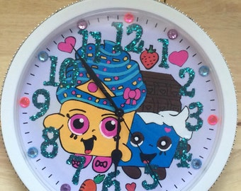 Shopkins Wall Clock,Shopkins Room Decor, Shopkins, Shopkins Room, Girls Shopkins Room, Cute Clocks, Cute Girls Clock, Cute Wall Clock,
