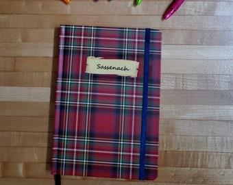 Outlander Inspired Journal, Plaid Journal, Sassenach Journal, Blank Page Journal, Lined, Journaling, Book Nook, Ready to Ship, MarjorieMae
