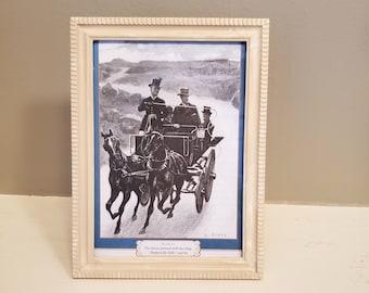 Framed Sherlock Holmes Book Page, Sherlock Illustration in Frame, Reader Gift, Book Decor, Ready to Ship, Book Nook MarjorieMae