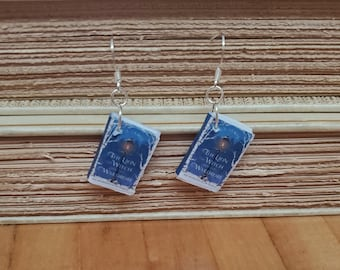 The Lion, The Witch, and The Wardrobe Book Earrings, Mini Book Earrings, Book Cover Earrings, Ready to Ship, Book Nook MarjorieMae