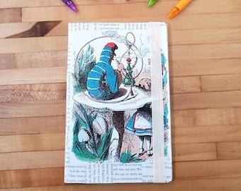 Alice in Wonderland Journal, Book Page Journal, Lewis Carroll, Blank Page Journal, Journaling, Unlined Journal, Book Nook, MarjorieMae