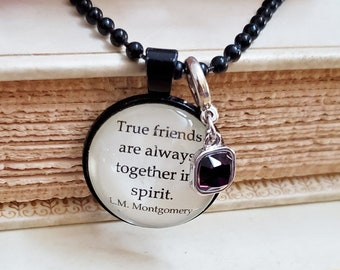 Anne of Green Gables Quote Necklace, Friendship, Book Quote Necklace, Book Lover Gift, Reader Gift, Ready to Ship, Book Nook, MarjorieMae