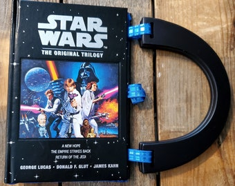 Star Wars Book Purse, Faux Leather Hard Cover Book Purse, Special Occasion Purse, Unique Formal Purse, Ready to Ship, MarjorieMae