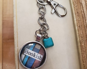 Bookish Keychain, Bookshelf Image Keychain, Reader Keychain, Book Quote Keychain, Swivel Clasp, Ready to Ship, Book Nook, MarjorieMae