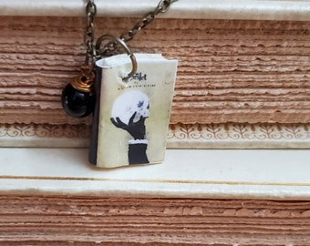 Hamlet Mini Book Necklace, William Shakespeare, Miniature Book Necklace, Reader Gift, Book Charm, Book Nook, Ready to Ship, MarjorieMae