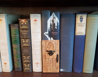 Dracula Inspired Book Nook Door, Book Art, Book Decor, Book Page, Castle, Bookshelf Insert, Fandom, Book Nook, Ready to Ship, MarjorieMae