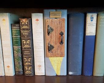 Wizard of Oz Inspired Book Nook Door, Book Art, Book Decor,Yellow Brick Road, Bookshelf Insert, Book Nook, Ready to Ship, MarjorieMae