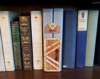Apothecary Witch & Wizard Shop Book Nook Door, Book Art, Book Decor, Bookshelf Insert, Fandom, Book Nook, Ready to Ship, MarjorieMae