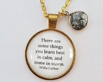 Willa Cather Quote Necklace, Encouragement Quote, Book Quote Necklace, Book Lover Gift, Reader Gift, Ready to Ship, Book Nook, MarjorieMae