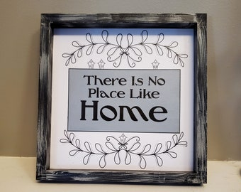 There is No Place Like Home Sign, Wizard of Oz Inspired Sign, Bookish Decor, Home Sign, Reader Gift, Ready to Ship, Book Nook MarjorieMae