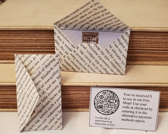 Printed Gift Card for Book Nook MarjorieMae, Gift Certificate for Book Nook MarjorieMae, 20, 40, 60, 80, 100 dollars, Last Minute Gift