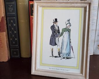 Framed Vintage Emma Book Page, Jane Austen Book Page in Frame, Reader Gift, Book Decor, Ready to Ship, Book Nook MarjorieMae