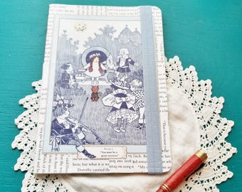 Wizard of Oz Journal, Book Page Journal, Bullet Journal, L. Frank Baum, Blank Journal, Journaling, Book Nook, One of a kind, MarjorieMae