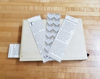 F. Scott Fitzgerald Book Page Bookmarks, Real Book Page Bookmarks, Book Nook, Book Excerpt Bookmarks, Ready to Ship, Book Gift, MarjorieMae