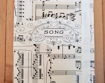 Vintage Sheet Music Journal, 1903 Sheet Music, Blank Page Journal, Piano Sheet Music, Musician Gift, One of a Kind, MarjorieMae