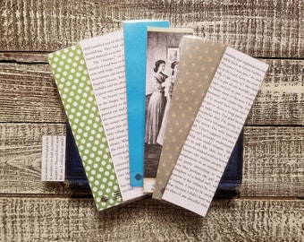 Anne of Green Gables Book Page Bookmarks, Real Book Page Bookmarks, LM Montgomery, Book Nook, Book Excerpt Bookmarks, Book Gift, MarjorieMae