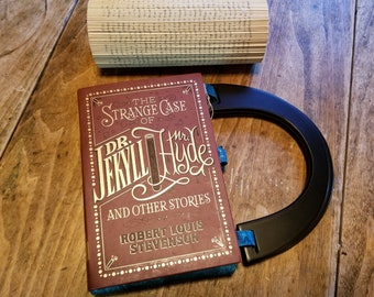 Dr. Jekyll and Mr. Hyde Book Purse, Faux Leather Book Purse, Special Occasion Purse, Unique Formal Purse, Ready to Ship, MarjorieMae
