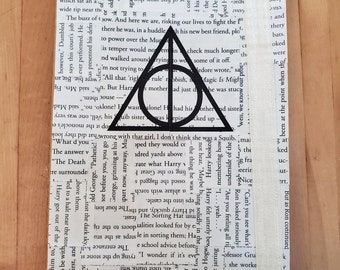 Harry Potter Inspired Journal, Book Page Journal, Blank Page Journal, Journaling, Book Nook, Book Journal, Ready to Ship, MarjorieMae