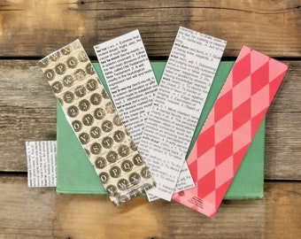 Dictionary Page Book Page Bookmarks, Real Book Page Bookmarks, Book Nook, Book Excerpt Bookmarks, Book Gift, MarjorieMae