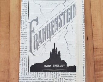 Frankenstein Journal, Book Page Journal, Mary Shelley, Blank Page Journal, Journaling, Ready to Ship, Book Nook, MarjorieMae