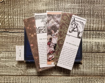 Black Beauty Book Page Bookmarks, Real Book Page Bookmarks, Anna Sewell, Book Nook, Book Excerpt Bookmarks, Horse, Book Gift, MarjorieMae