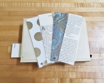 Wuthering Heights Book Page Bookmarks, Real Book Page Bookmarks, Book Nook, Book Excerpt Bookmarks, Ready to Ship, Book Gift, MarjorieMae