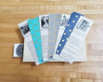 Harry Potter Book Page Bookmarks, Real Book Page Bookmarks, Book Nook, Book Excerpt Bookmarks, Ready to Ship, Book Gift, MarjorieMae