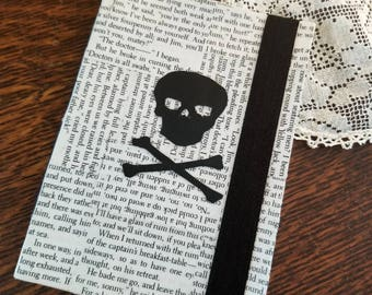 Treasure Island Journal, Book Page Journal, Blank Page Journal, Robert Louis Stevenson, Skull & Cross Bones, Pirate, Book Nook, MarjorieMae