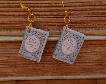 The Secret Garden Book Earrings, Mini Book Earrings, The Secret Garden Book Cover Earrings, Ready to Ship, Book Nook MarjorieMae