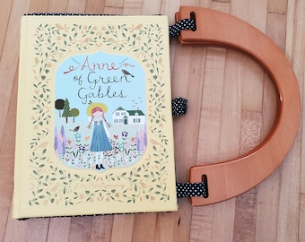 Anne of Green Gables Book Purse, Leather Book Purse, Special Occasion Purse, Unique Formal Purse, Ready to Ship, MarjorieMae