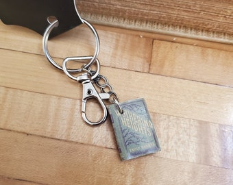 Wuthering Heights Book Keychain, Mini Book Keychain, Reader Keychain, Ready to Ship, Bookish Keychain, Swivel Clasp, Book Nook, MarjorieMae