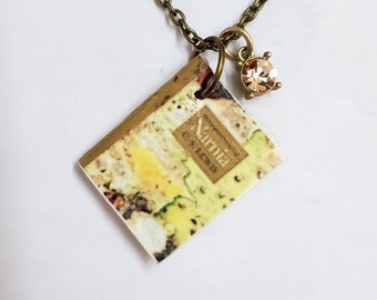 Chronicles of Narnia Mini Book Necklace, C.S. Lewis, Miniature Book Necklace, Book Charm, Book Nook, Ready to Ship, MarjorieMae