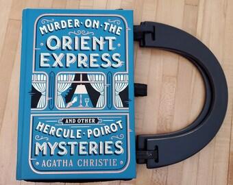 Agatha Christie Book Purse, Leather Book Purse, Special Occasion Purse, Mystery Book Purse, Unique Formal Purse, Ready to Ship, MarjorieMae