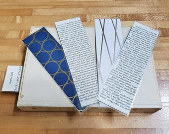 The Hobbit Book Page Bookmarks, Real Book Page Bookmarks, Book Nook, Book Excerpt Bookmarks, Book Gift, Ready to Ship, MarjorieMae