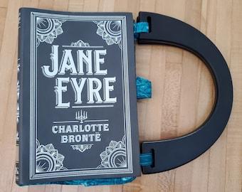 Jane Eyre Book Purse, Faux Leather Book Purse, Special Occasion Purse, Charlotte Brontë, Unique Formal Purse, Ready to Ship, MarjorieMae
