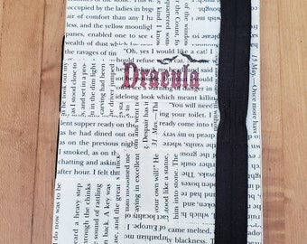Dracula Journal, Book Page Journal, Bram Stoker, Blank Page Journal, Unlined Journal, Journaling, Ready to Ship, Book Nook, MarjorieMae