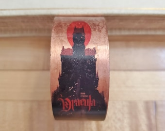 Dracula Book Cover Cuff Bracelet, Book Nook, Book Cover Bracelet, Book Bracelet, Dracula Bracelet, Copper, Ready To Ship, MarjorieMae