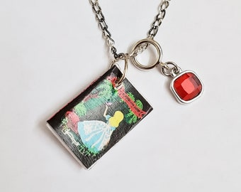 Alice in Wonderland Mini Book Necklace, Book Necklace, Miniature Book, Reader Gift, Book Charm, Book Nook, Ready to Ship, MarjorieMae