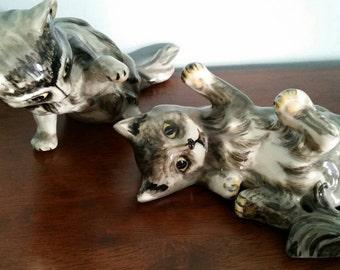 Playful Kittens, large figurines